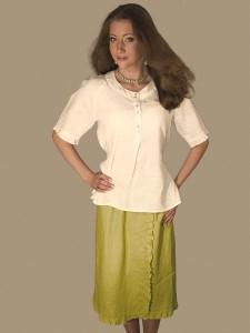 Lininis kostiumėlis moterims