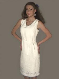 Balta vasarine suknele