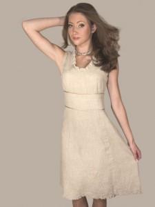 Lininė suknelė moterims